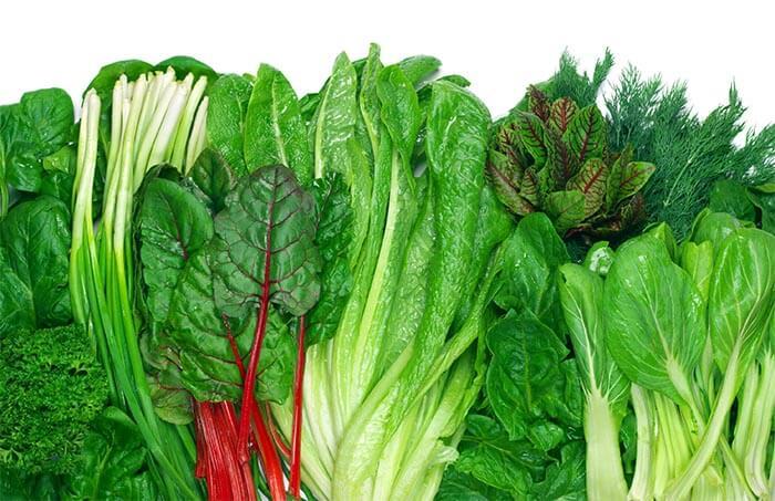 Zielone liściaste warzywa